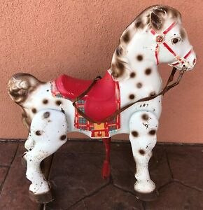 Mobo Bronco 1950-60's Bounce/Jump Metal Horse by D. Sebel, Childrens Riding Toys