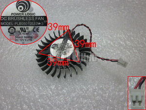 Power Logic 5010 PLB05010S12H-3 Graphic Card Cooling Fan 12V 0.27A Sleeve 2-Pin