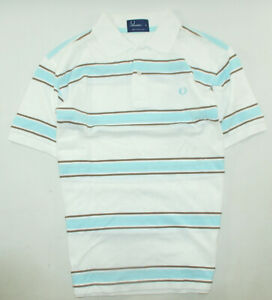 Fred Perry Polo Shirt Weiß Gr. M
