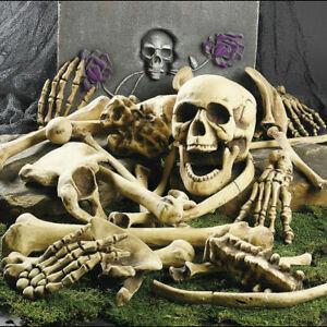 28pcs Set Halloween Haunted House Horror Decoration Skeleton Bones Skull Prop