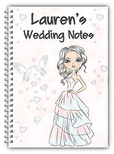 A5 PERSONALISED WEDDING NOTEBOOK/BRIDE TO BE PERSONALISED GIFT/ LINED PAPER/ 02