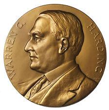 1923 Warren Harding Inaugurated 1921 U.S. Mint Memorial Medal By George T Morgan