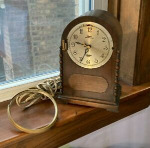 Vintage Mantel Electric Clock Revere Westminster Chime Telechron 1930s  As Is