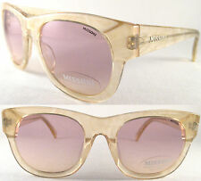 RARE Cool & VINTAGE MISSONI Ladies sunglasses, Honey/Oro/Opaco Trasparente