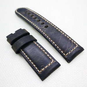 24mm Dark Brown Crack Calf PAM Leather Strap for 22mm Pam Tang Buckle PAM Wirst