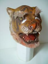 Masque souple ancien déguisement Tigre 70's