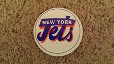 "VERY RARE NEW YORK JETS VINTAGE NFL STICKER FROM 1970'S 3"" diameter Fasson"
