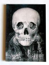 Skull love Piero illusion canvas print giclee 8X12&12X17 poster reproduction art