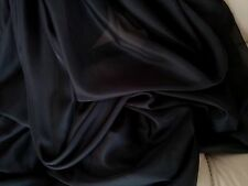 """Sheer Voile Black 116"""" wide for wedding  party decorations backdrop, free swatch"""