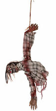 80CM HANGING ZOMBIE LIGHT MOVING SOUND ANIMATED HALLOWEEN DECORATION PARTY PROP