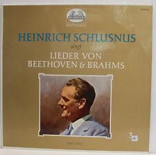 "HEINRICH SCHLUSNUS SINGT (3 III) CANCIONES DE BEETHOVEN & BRAHMS 12"" LP (e837)"