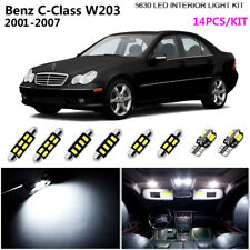 14Pcs 5630 Xenon White 6K Interior Light Kit LED For 2001-2007 Benz C-Class W203