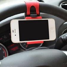 Auto KFZ Handy Ständer Halterung Hälter Universal Smart Phone Lenkrad Rot