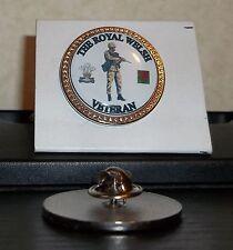 HM Armed Forces The Royal Welsh Veteran lapel pin badge .