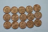 ISLE OF MAN 1/2 PENNY 1980 - 15 COINS LOT ALL HIGH GRADE B15 JJJ29