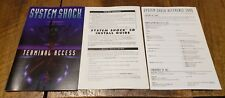 System Shock Terminal Access PC Manual Install Guide and Reference Card Only