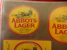 VINTAGE AUSTRALIAN BEER LABEL. CARLTON & UNITED - ABBOTS LAGER 375ML 18AL