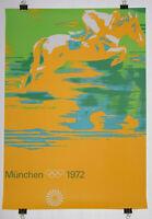 Poster Plakat - Reiten DIN A0 - Olympiade 1972 München - Otl Aicher -