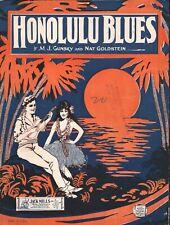 Honolulu Blues 1923 Sheet Music