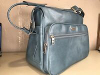 Samsonite Vintage Silhouette II Luggage Carry On Bag Overnight Blue 1980's BAG
