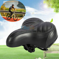 New Comfort Wide Big Bum Bike Gel Cruiser Extra Sporty Soft Pad Saddle Seat US