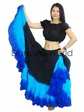 3 Colour 25 yard belly dance dancing cotton Skirt & Top 2pc Tribal Gypsy ATS