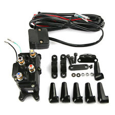 12V Solenoid Relay Contactor & Black Winch Rocker Thumb Switch COMBO for ATV UTV