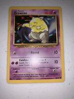 Drowzee Pokemon Card Base Set 49/102
