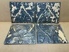 4 pc Lot 11.5' x 8' Antique Ceiling Tin Metal Reclaimed Salvage Art Craft