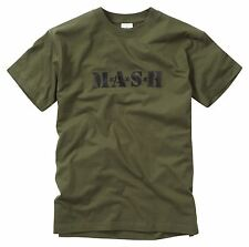 Army T Shirt MASH Printed Combat Military Tactical Olive Green Short Sleeve Top