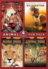 Animal Fun Pack: Buddy / Sylvester / Born Free / Living Free (DVD, 2014) - NEW!!