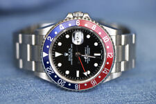 Rolex GMT Master II Pepsi 16170 Blue Red Bezel Stainless Steel Box 2004 MINT