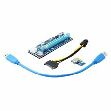 Qumox PCI-E 1x to 16x Powered USB 3.0 Extender Riser Adapter Card Mining