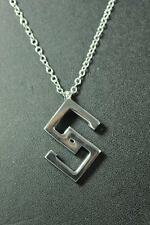 "COOL UNIQUE HIPSTER STYLE ""S"" SILVER NECKLACE RETRO UNIQUE BRAND NEW (ZX5)"