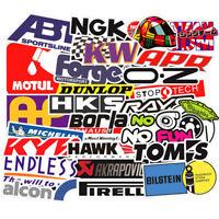 100PCS Vinyl JDM Stickers Pack Motorcycle Racing Motocross Helmet Car Decals Lot
