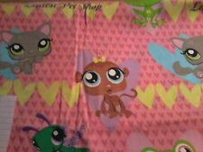 NEW Little Littlest Pet Shop Monkey Frog cat Fabric bty Cotton Large print