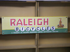 Raleigh Bicycle Banner vintage retro look advertising pvc sign