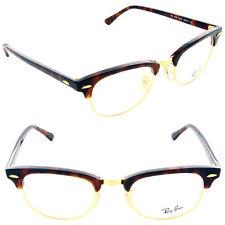 Ray Ban Clubmaster Eyeglasses RX5154 2372 49mm Red Havana/Demo Lens [49-21-140]