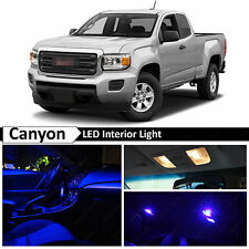 2015-2016 GMC Canyon Blue Interior + License plate LED Light Package Kit