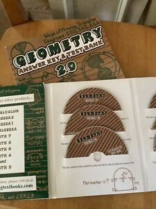 Geometry A Teaching Textbook 2.0, answer key And cd opened.