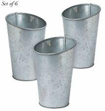 Set of 6 Wedding Holiday Celebration Galvanized Vases Metal