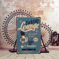 20x30cm Vintage Sign Bar COCKTAIL Wall Decor Retro Tavern Pub Bar Art Poster