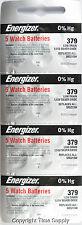 20 pcs 379 Energizer Watch Batteries SR521SW SR521 0%HG