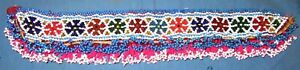 """Remnants Patch Medallion Beaded Afghan Kuchi Tribal Sewing Art Crafts 16"""""""