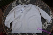 Zara Oyster White Rustic Blouse L Large 12 New