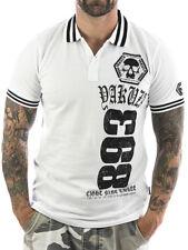 Yakuza Polo 893 Two Face 12025 weiß Neu Herren - Männer T-Shirt gR M