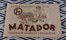 Orig. Korbuly´s Matador - Vorlagenheft für Matador Nr 34