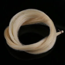 1 Hanks Finest Grade Narural White Violin Bow Hair Mongolian Mare tied White