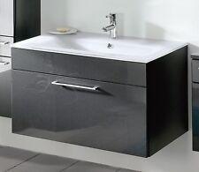 5712 Posseik Badezimmer Waschplatz Heron 90 cm Waschtisch Weissglas Waschbecken