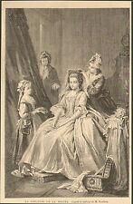 IMAGE 1866 ENGRAVING LA TOILETTE DE LA MARIEE REPRODUCTION TABLEAU ROMBERG